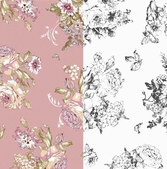 Floral textile design (click image for more)